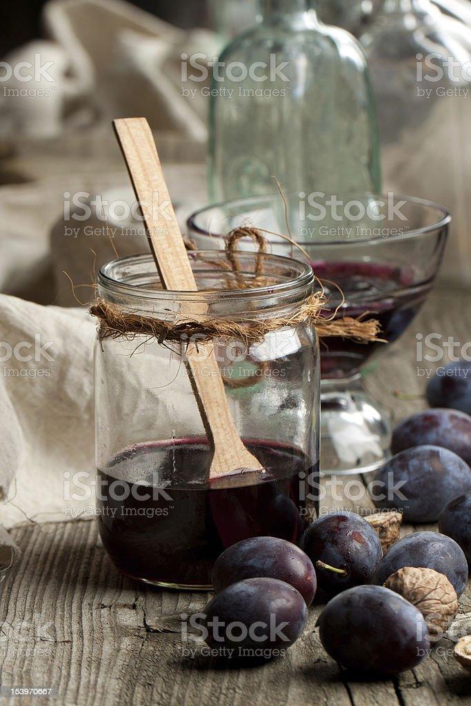 Jam in jar royalty-free stock photo