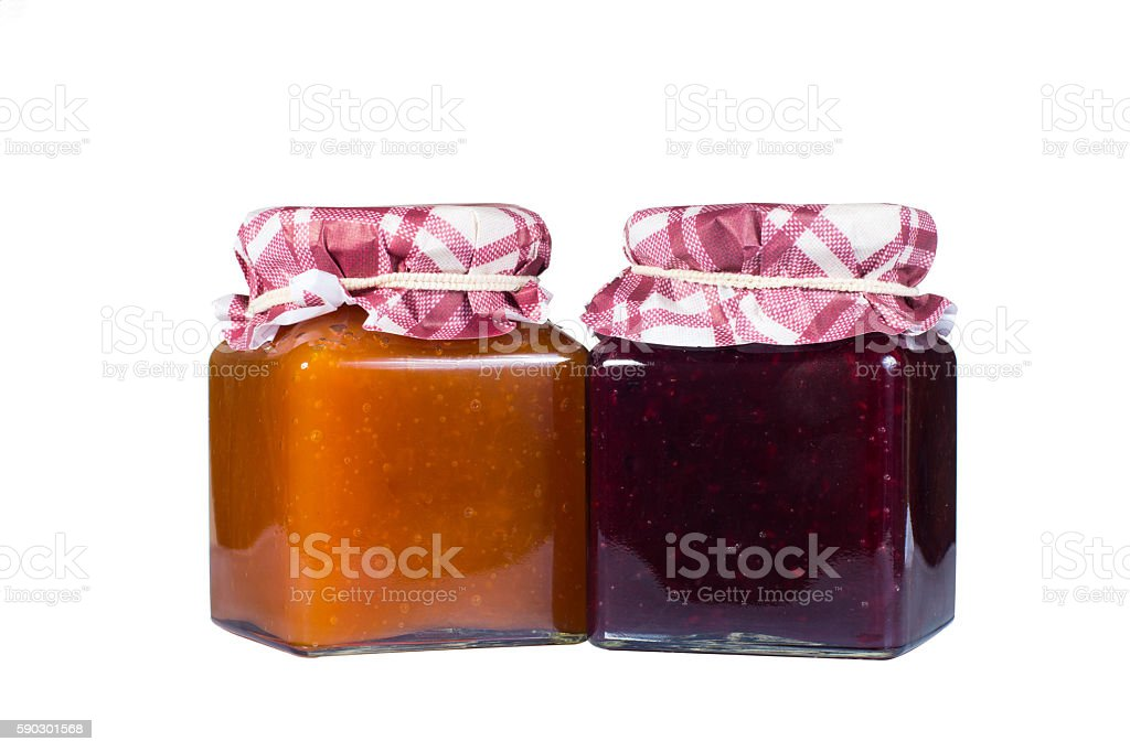 jam made by hand, with toasted bread, Italian breakfast stock photo