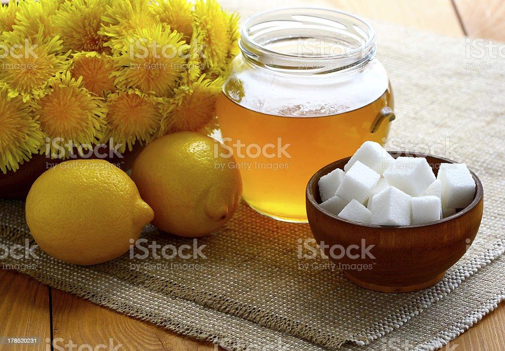 Jam of dandelions. royalty-free stock photo