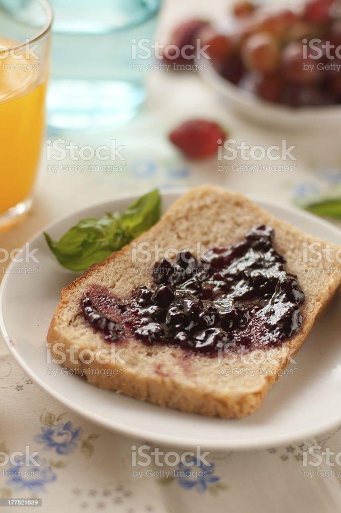 Jam on a toast royalty-free stock photo