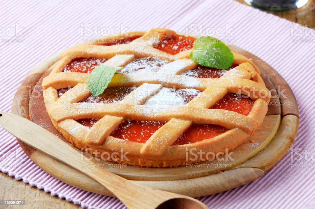 Jam tart stock photo