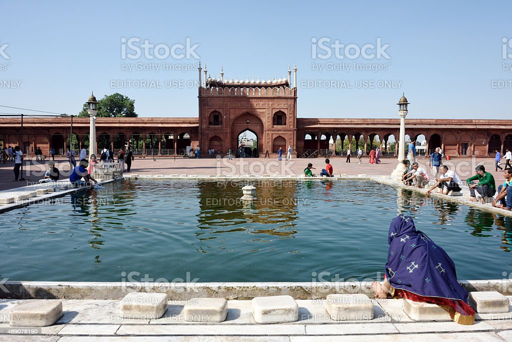 Jama Masjid Delhi, the Largest Mosque in India. stock photo