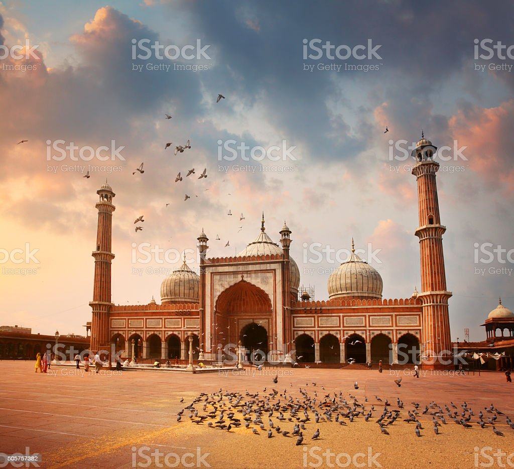 Jama Masjid Mosque in Delhi royalty-free stock photo