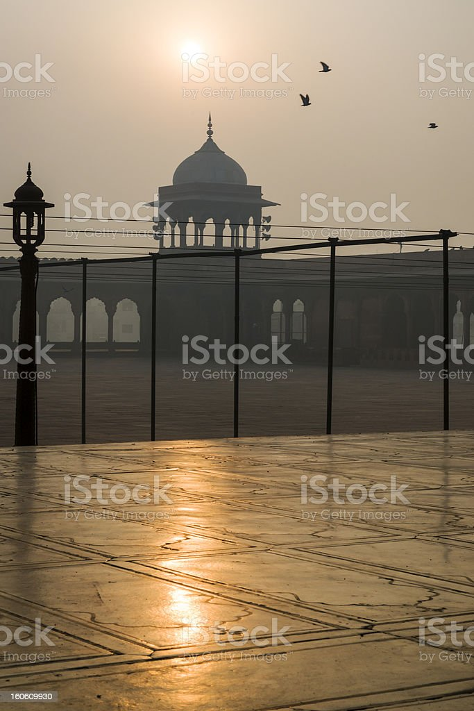 Jama Masjid mosque in Old Delhi, India royalty-free stock photo