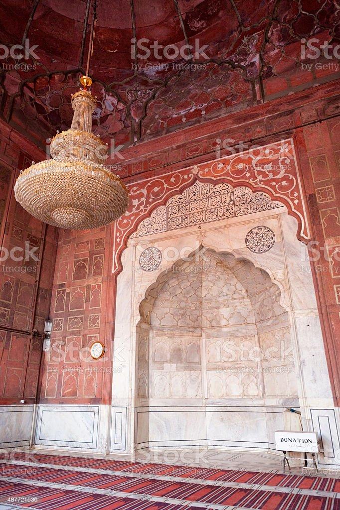 Jama Masjid Mosque in Old Delhi, India stock photo