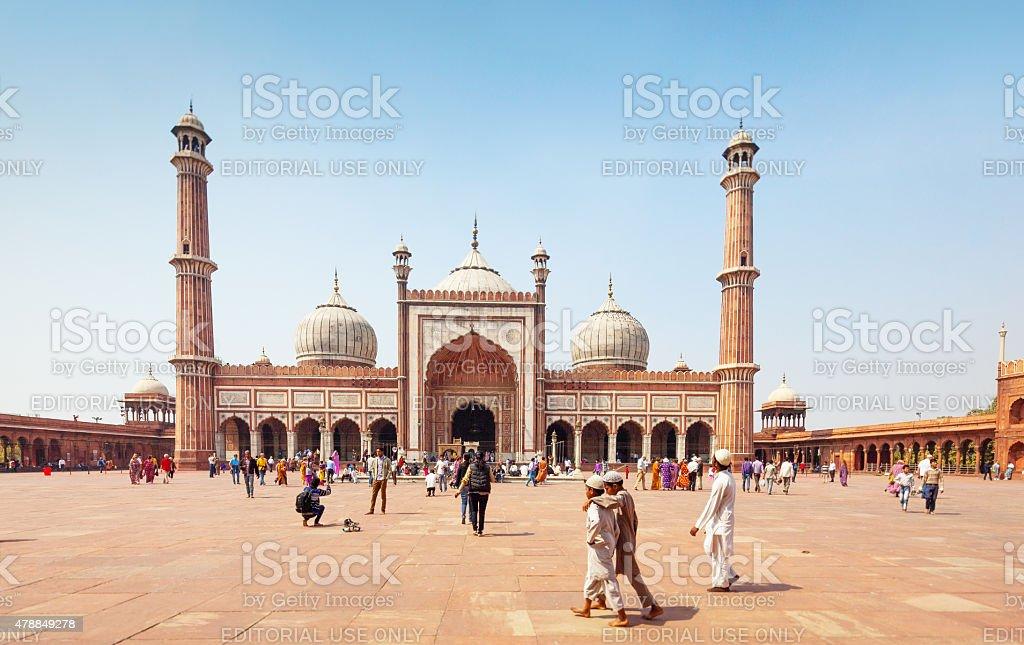 Jama Masjid Mosque Old Delhi, India stock photo