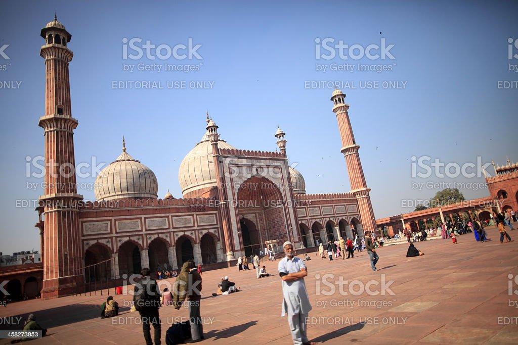 Jama Masjid, New Delhi, India royalty-free stock photo