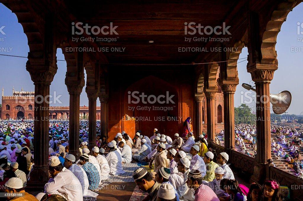Jama Masjid, Old Delhi, India stock photo
