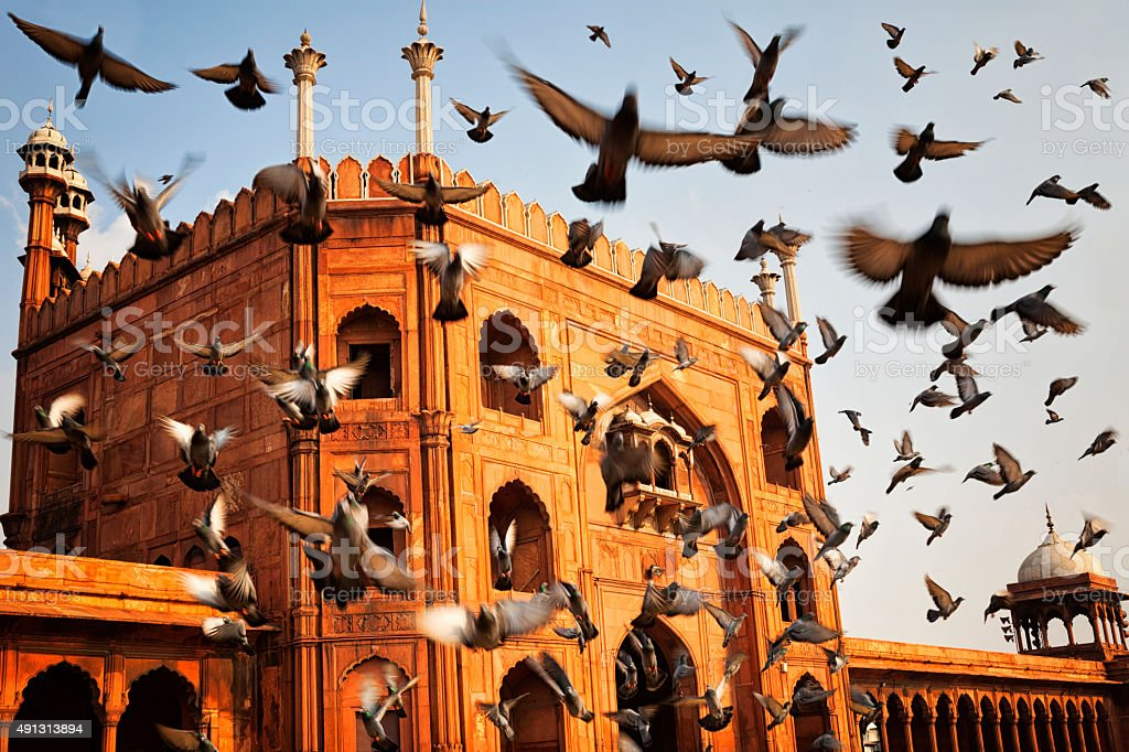 Jama Masjid - Old Delhi, India stock photo