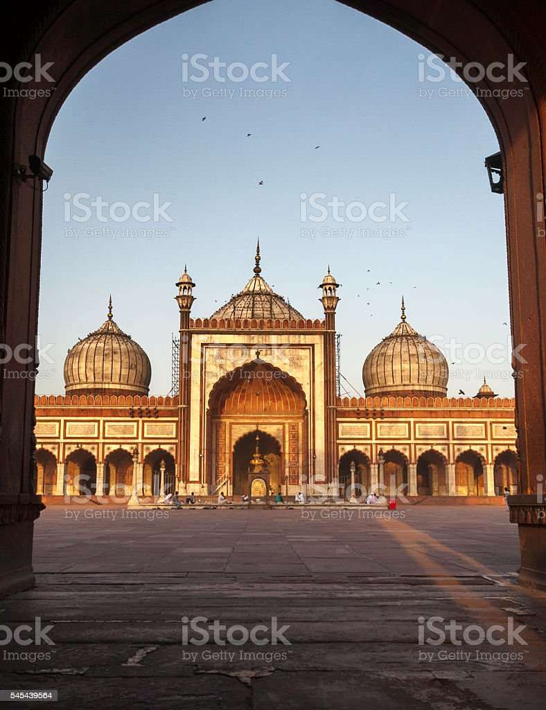 Jama Masjid, Old Delhi-India stock photo