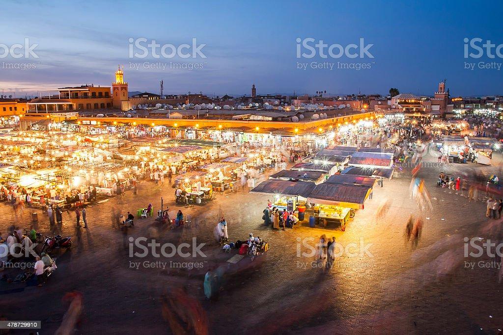 Jamaa el Fna in Marrakesh stock photo