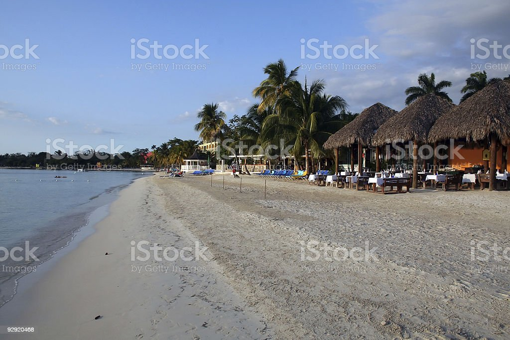 Jamaica Beach Resort stock photo