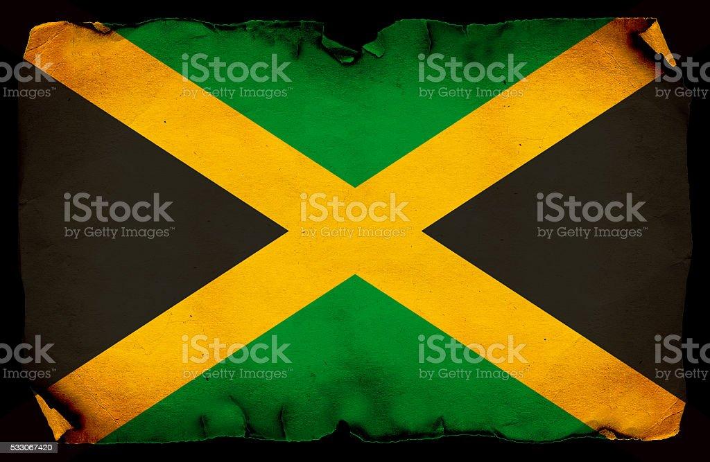 Jamaica grunge Flag stock photo