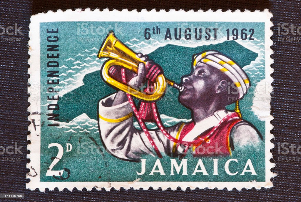 Jamaica Independence Stamp royalty-free stock photo