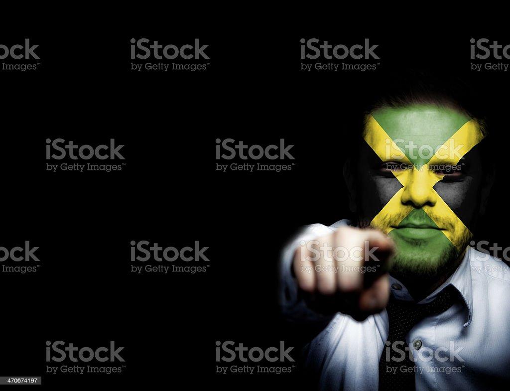 Jamaica Sport Soccer Fan royalty-free stock photo