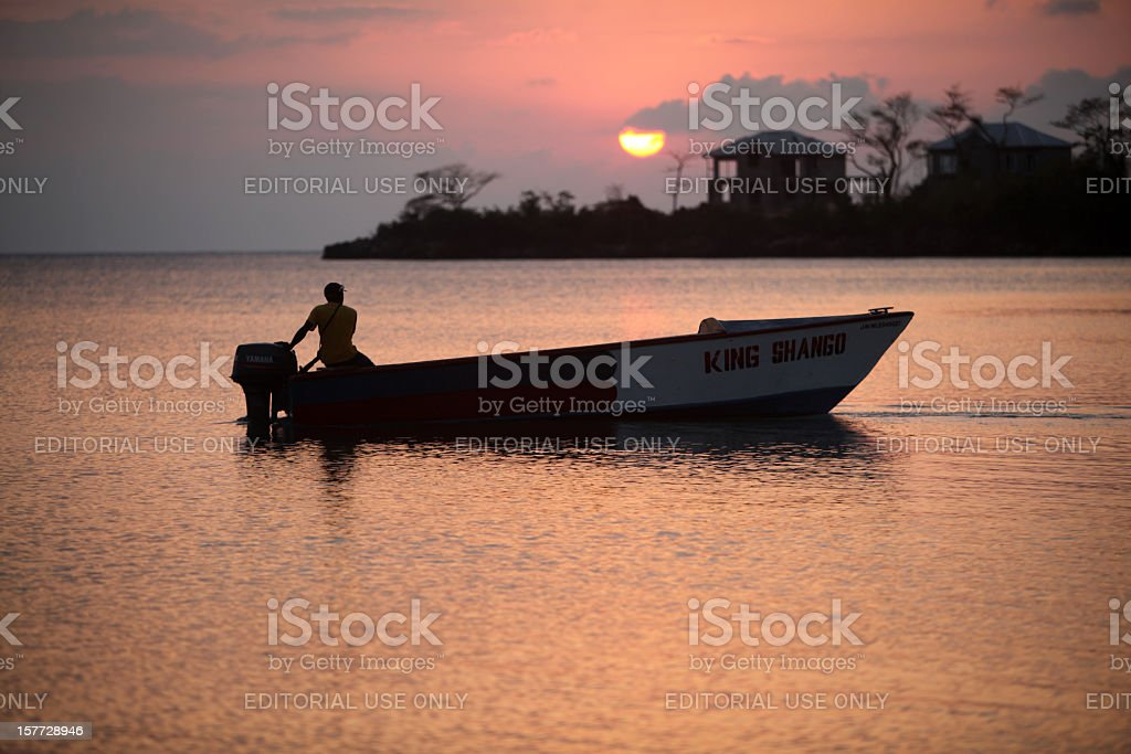 Jamaican Boat royalty-free stock photo
