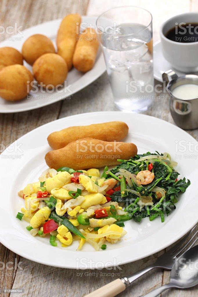jamaican breakfast stock photo