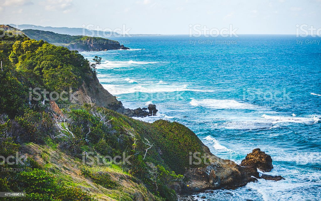 Jamaican coast. stock photo