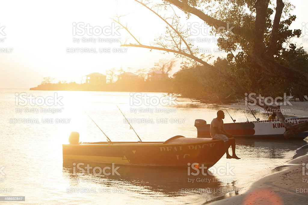 Jamaican Fishing Boat royalty-free stock photo