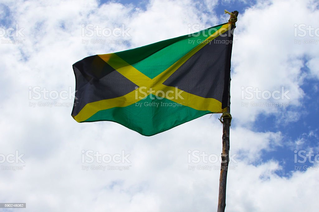 jamaican flag stock photo