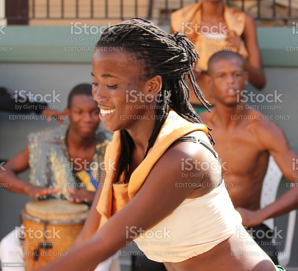 Jamaican Street Performer stock photo