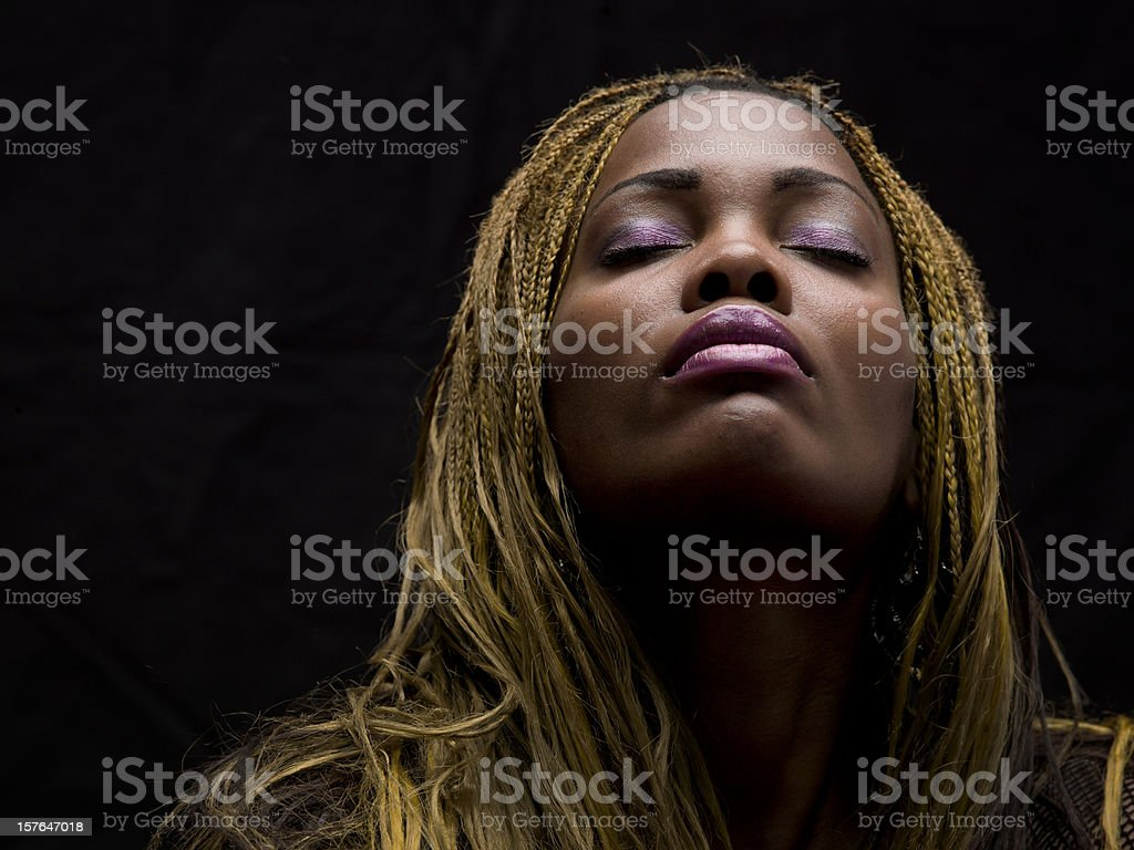 Jamaican woman royalty-free stock photo
