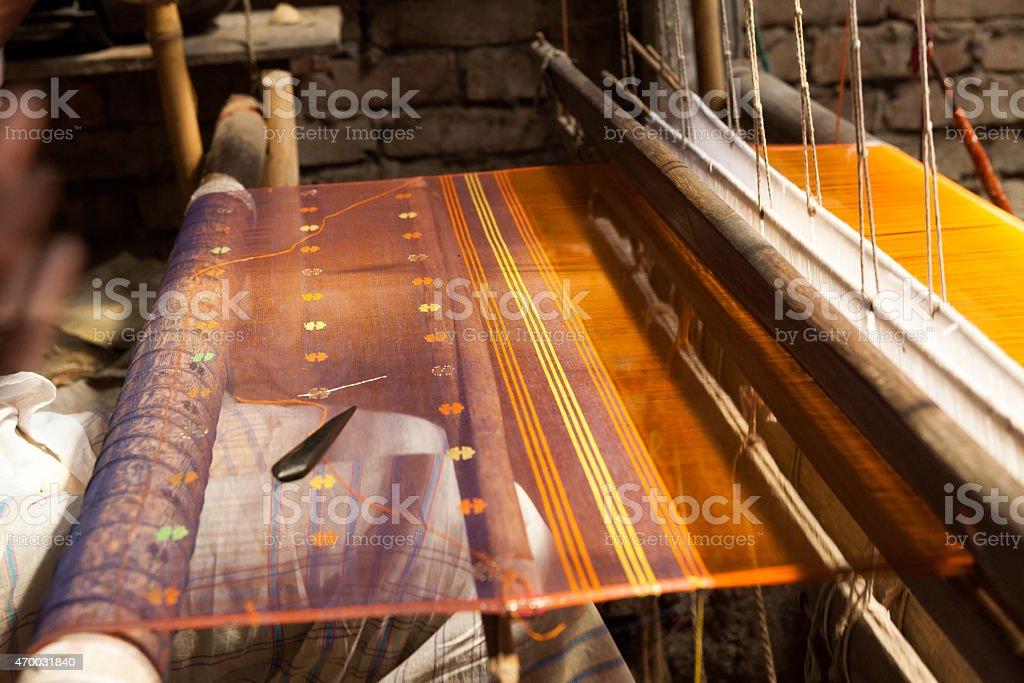 Jamdani Weaving stock photo