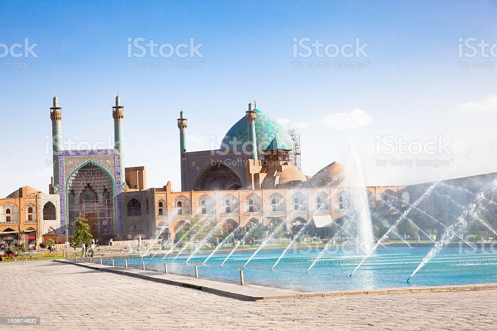 Jame Abbasi mosque in Naqsh-I Jahan Square in Esfahan Iran stock photo