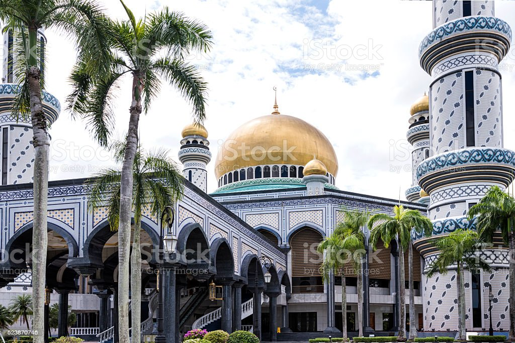 Jame Asr Hassanil Bolkiah Mosque stock photo