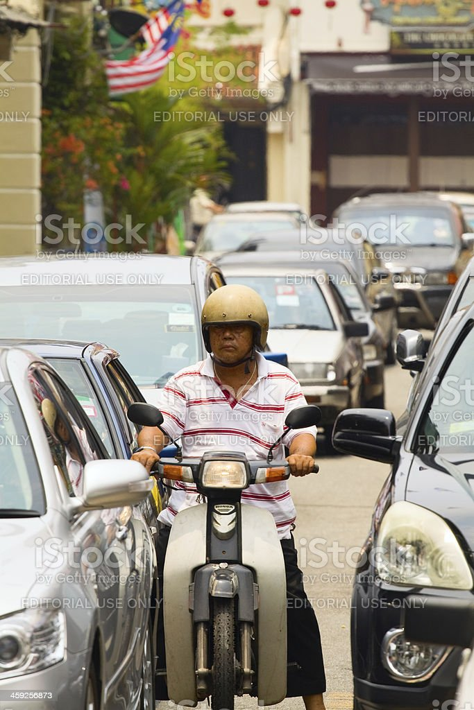 Jamed in traffic royalty-free stock photo