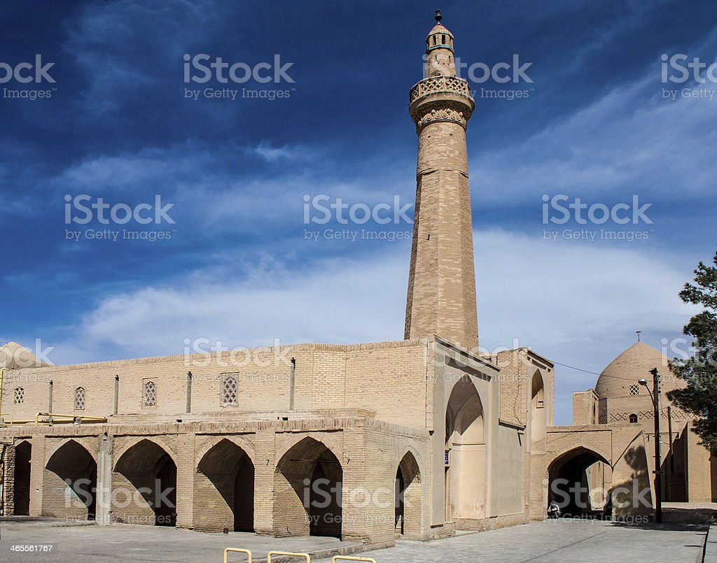 Jameh Mosque in desert town Naein royalty-free stock photo