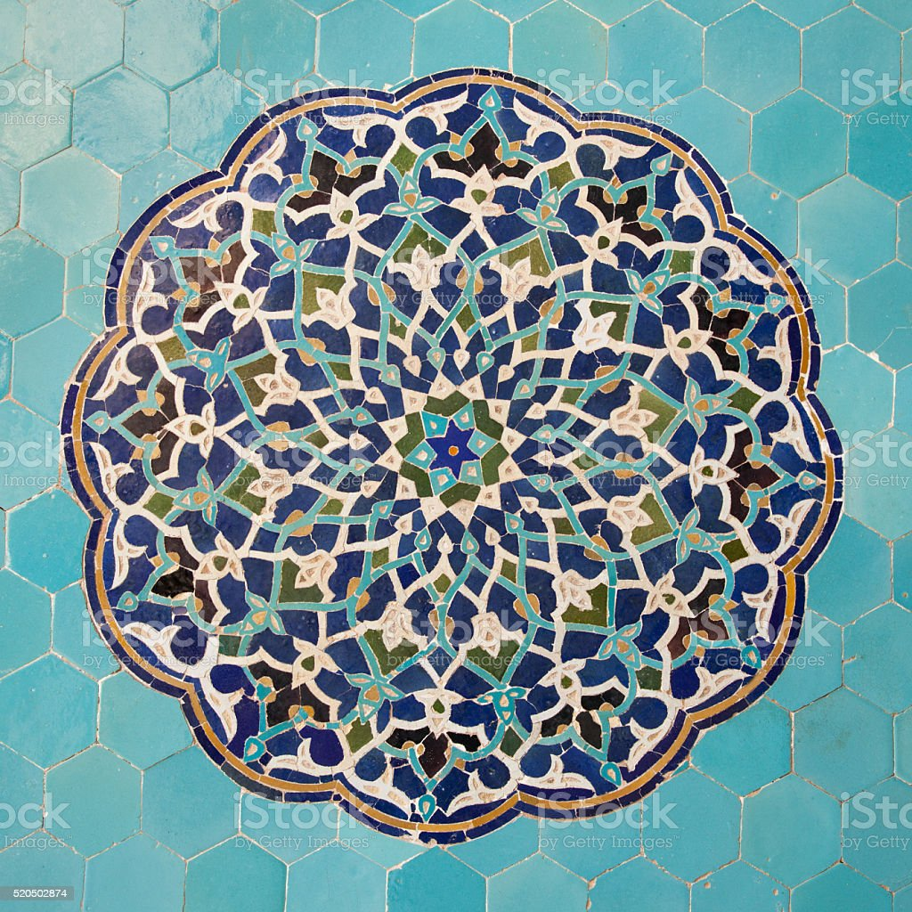 Jameh mosque, Yazd stock photo