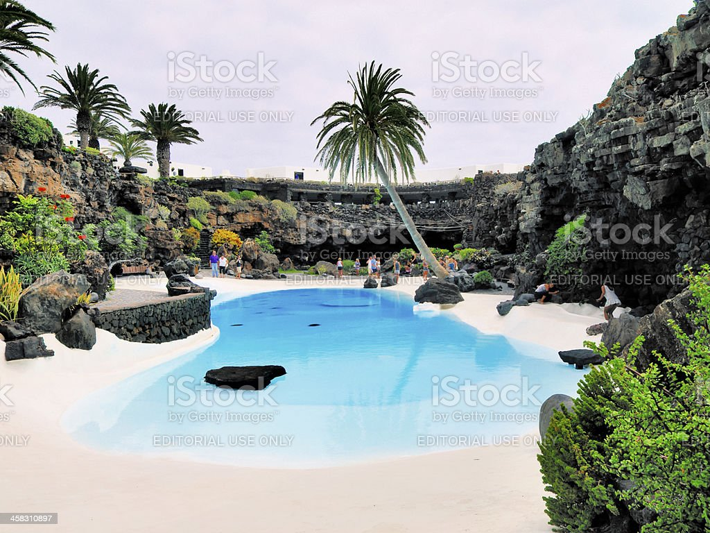 Jameos del Agua, Lanzarote stock photo