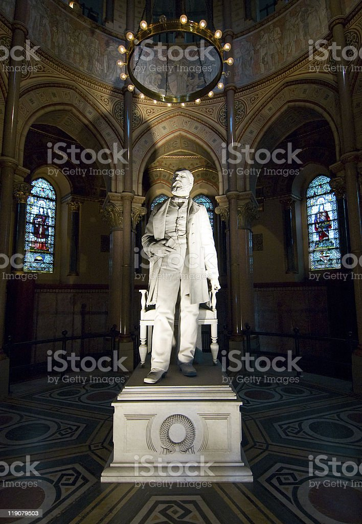 James A Garfield Memorial and statue stock photo