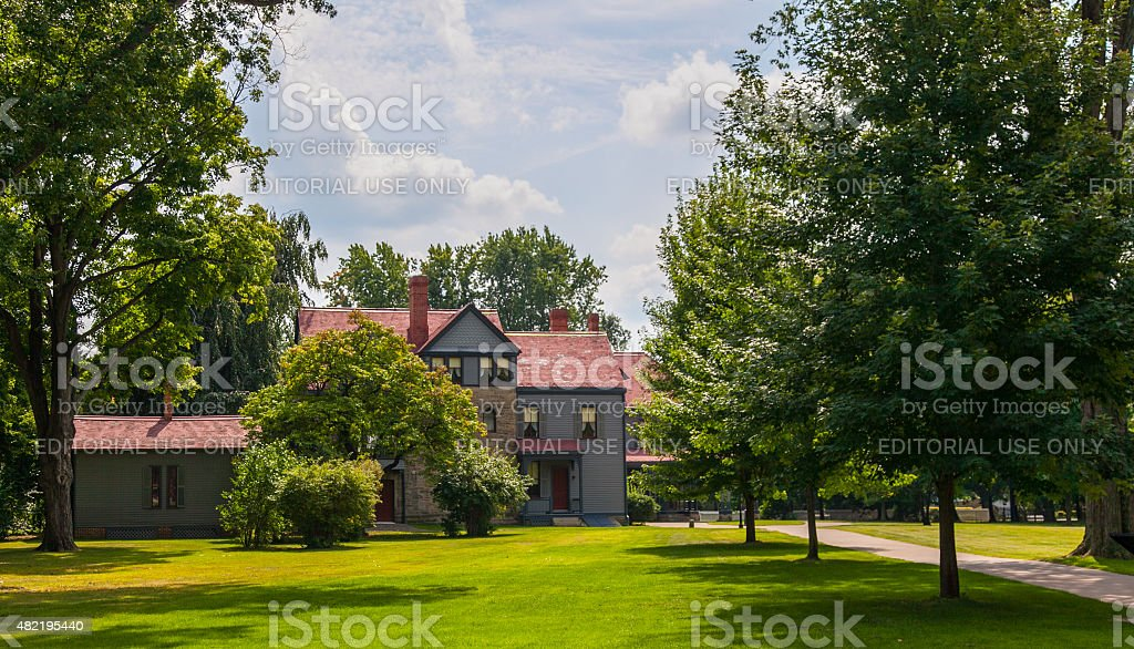 James A. Garfield National Historic Site stock photo