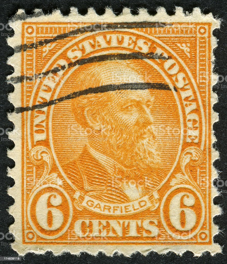 James A. Garfield Stamp royalty-free stock photo