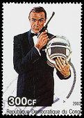 James Bond 007 Democratic Republic of Congo postage stamp