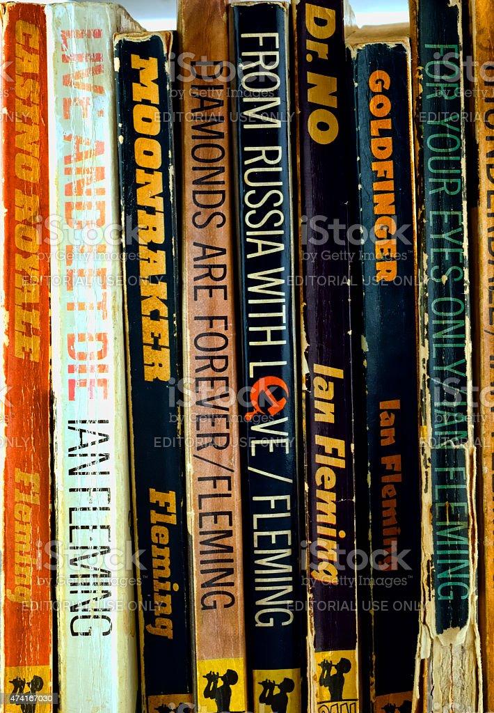 James Bond 007 Paperback Books stock photo