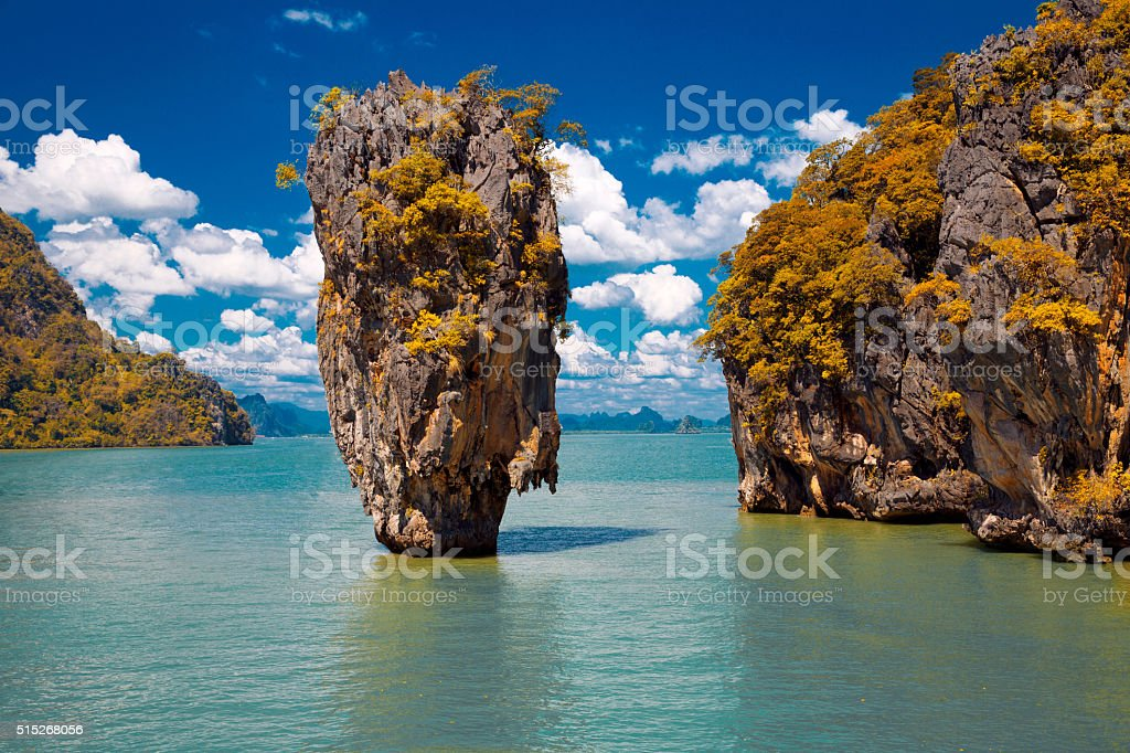 James Bond Island in Phang Nga Bay, Thailand stock photo