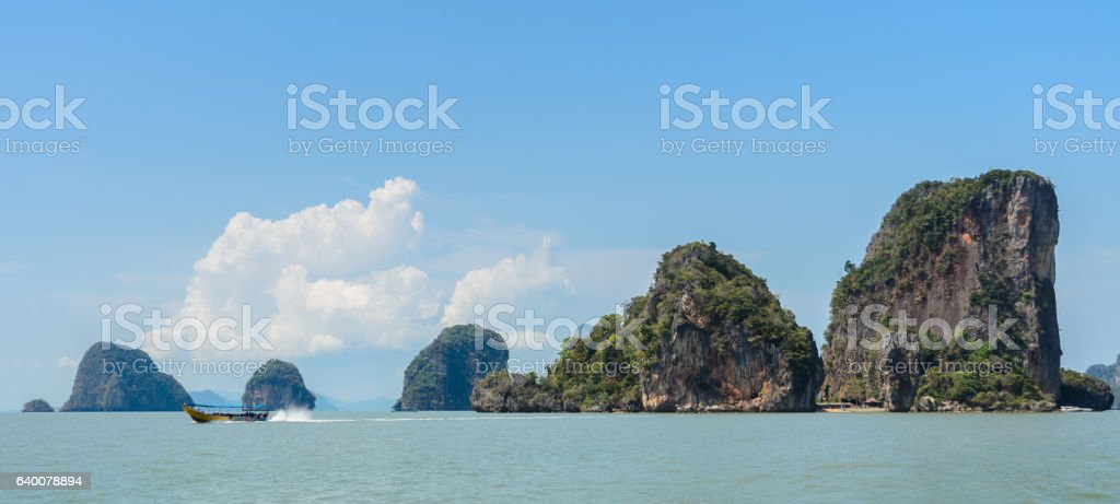 James Bond Island in Phang Nga Bay, Thailand stock photo