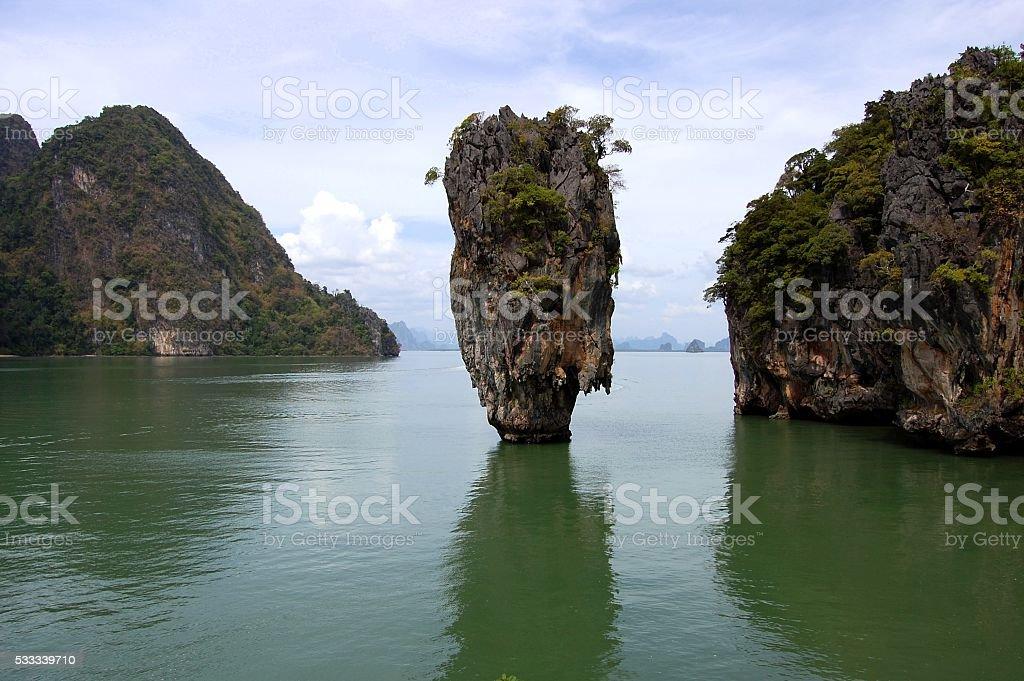 James Bond island in Phang-Nga bay, Thailand stock photo