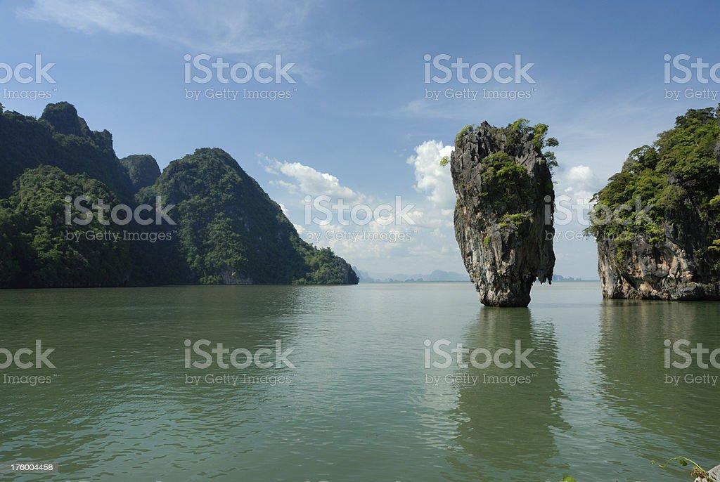 James Bond Island in Phuket royalty-free stock photo