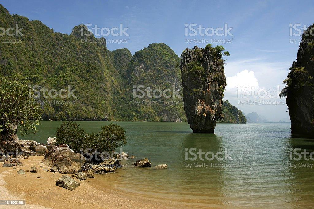 James Bond Island or Ko Tapu at Phang-Nga Bay stock photo