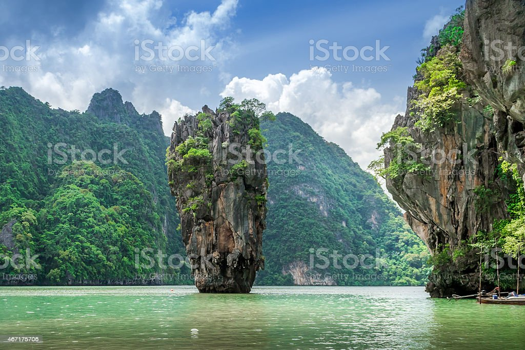 James Bond Island, Phang Nga Bay, Thailand stock photo