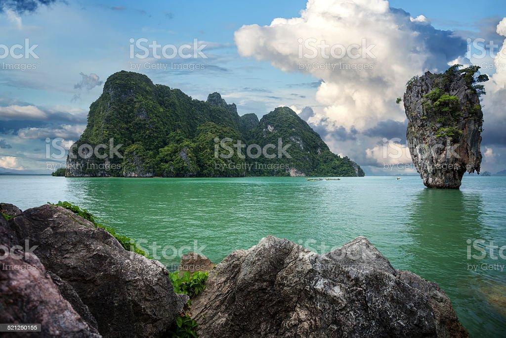 James Bond island, Phang nga, Phuket, Thailand stock photo