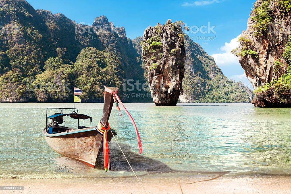 James Bond Island, Phang Nga, Thailand stock photo