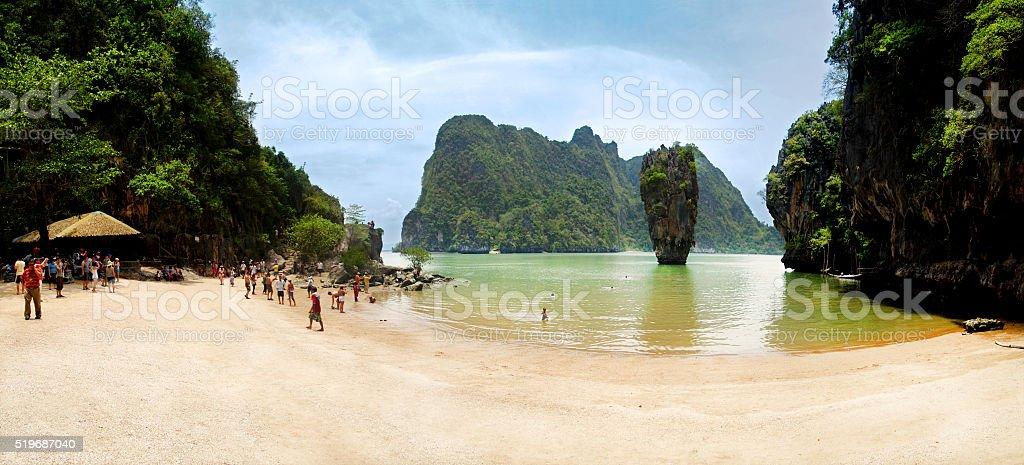 James Bond Island Thailand panorama view stock photo