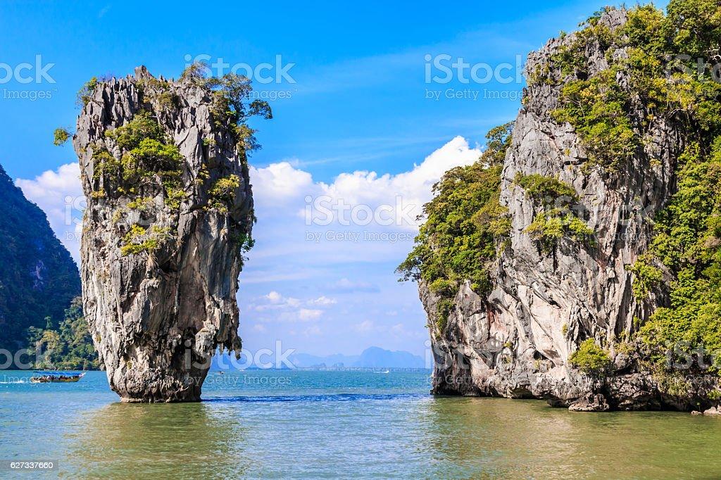 James Bond Island, Thailand. stock photo