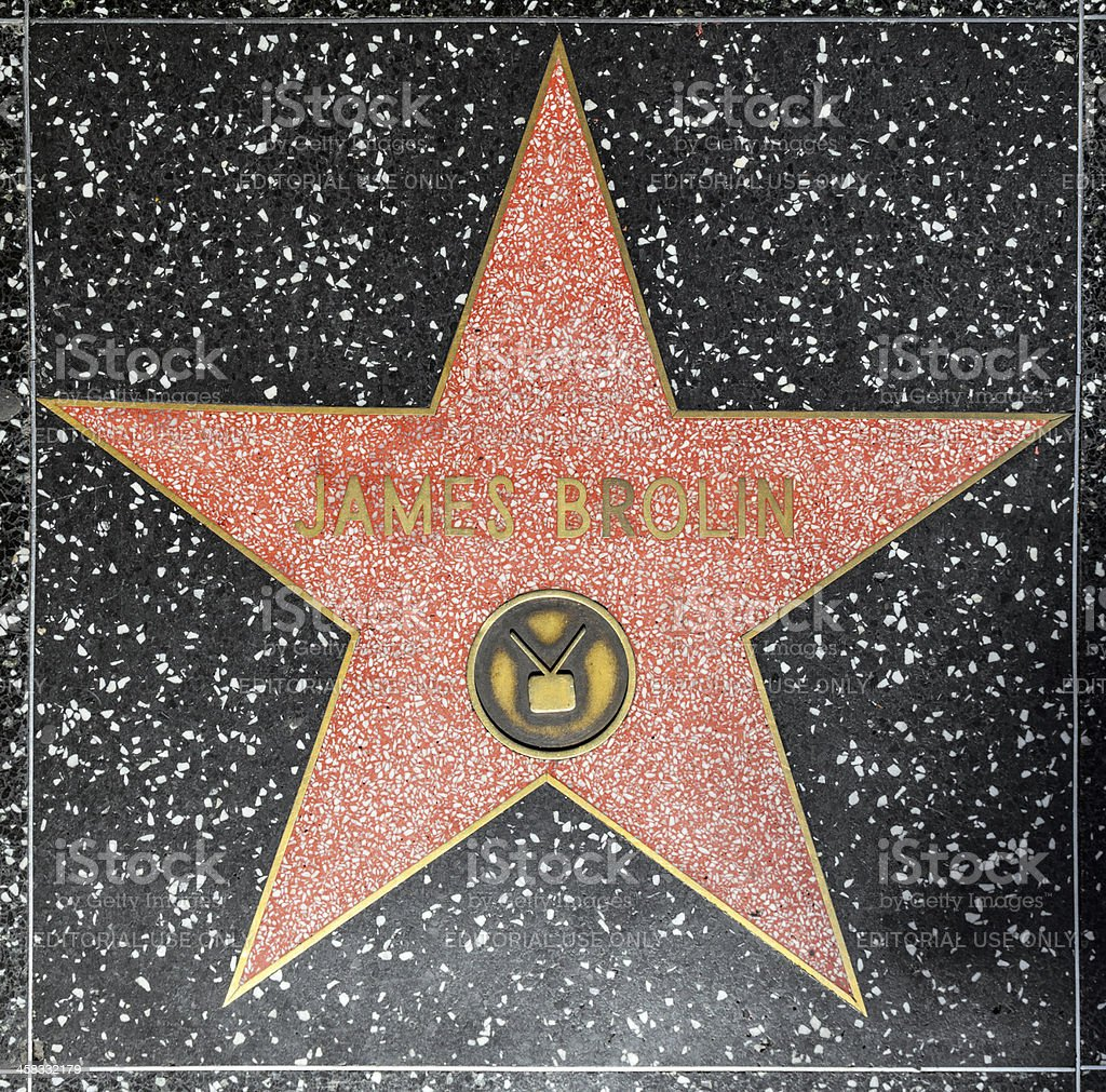 James Brolins star on Hollywood Walk of Fame royalty-free stock photo