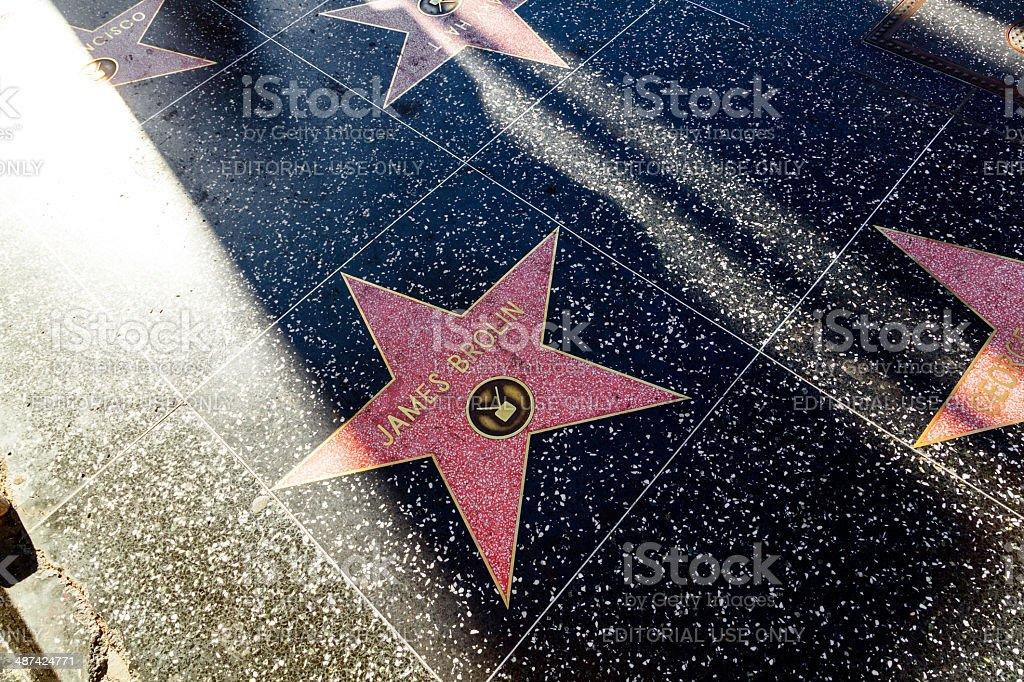 James Brolin's star on Hollywood Walk of Fame stock photo